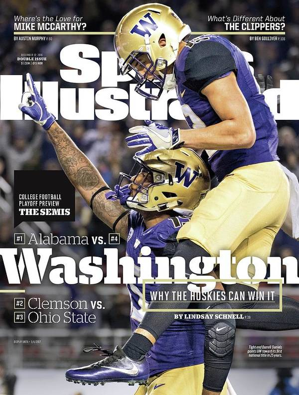 Magazine Cover Art Print featuring the photograph Washington Why The Huskies Can Win It, 2016 College Sports Illustrated Cover by Sports Illustrated