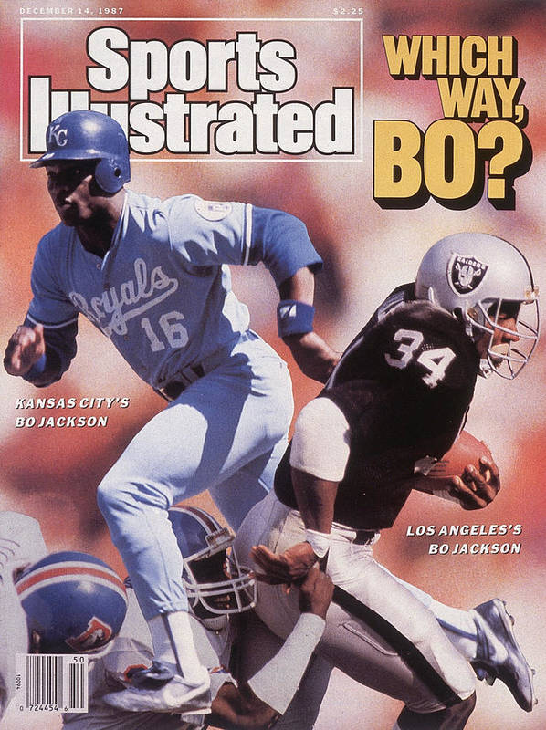 Magazine Cover Art Print featuring the photograph Which Way Bo? Bo Jackson Of Kansas City Royals And Los Angeles Raiders Sports Illustrated Cover by Sports Illustrated