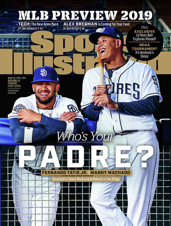 Magazine Cover Art Print featuring the photograph Whos Your Padre 2019 Mlb Season Preview Sports Illustrated Cover by Sports Illustrated
