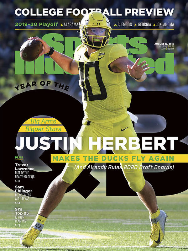 Magazine Cover Art Print featuring the photograph Year Of The Qb University Of Oregon Justin Herbert, 2019 Sports Illustrated Cover by Sports Illustrated