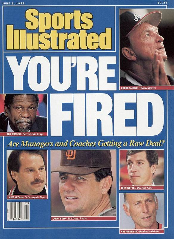 1980-1989 Art Print featuring the photograph Youre Fired Are Managers And Coaches Getting A Raw Deal Sports Illustrated Cover by Sports Illustrated