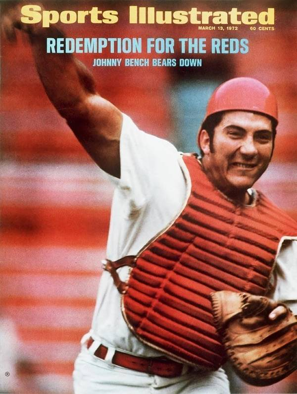 Magazine Cover Art Print featuring the photograph Cincinnati Reds Johnny Bench Sports Illustrated Cover by Sports Illustrated