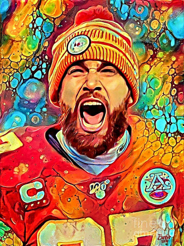 Colorful Kelce by Cynthia Burris