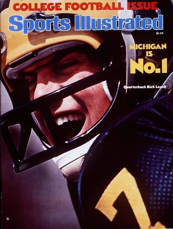Magazine Cover Art Print featuring the photograph Michigan Qb Rick Leach, 1976 College Football Preview Sports Illustrated Cover by Sports Illustrated