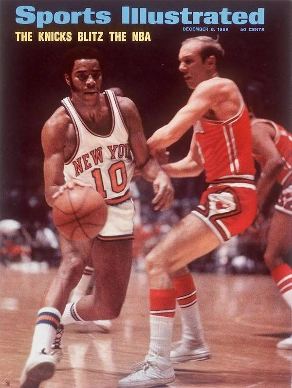 Chicago Bulls Art Print featuring the photograph New York Knicks Walt Frazier... Sports Illustrated Cover by Sports Illustrated