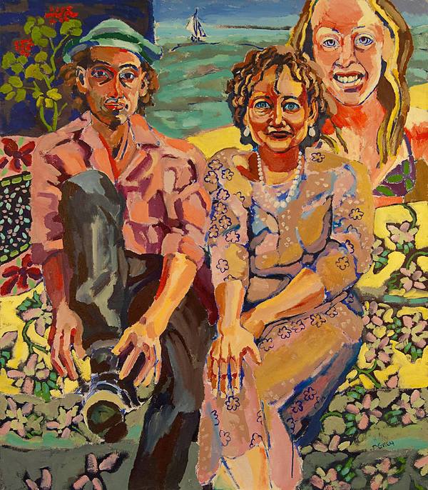 Family Portrait Art Print featuring the painting Family Portrait by Doris Lane Grey