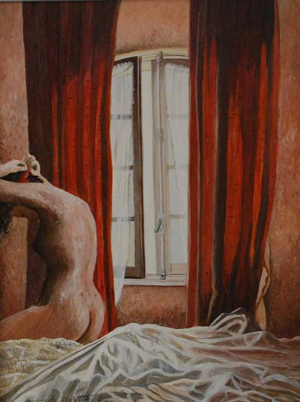 Impressioninism Painting Nude Art Print featuring the painting Nude by Santo De Vita