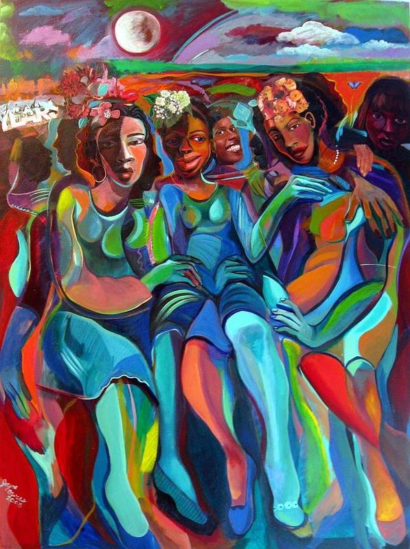 Women Art Print featuring the painting Always by Joyce Owens