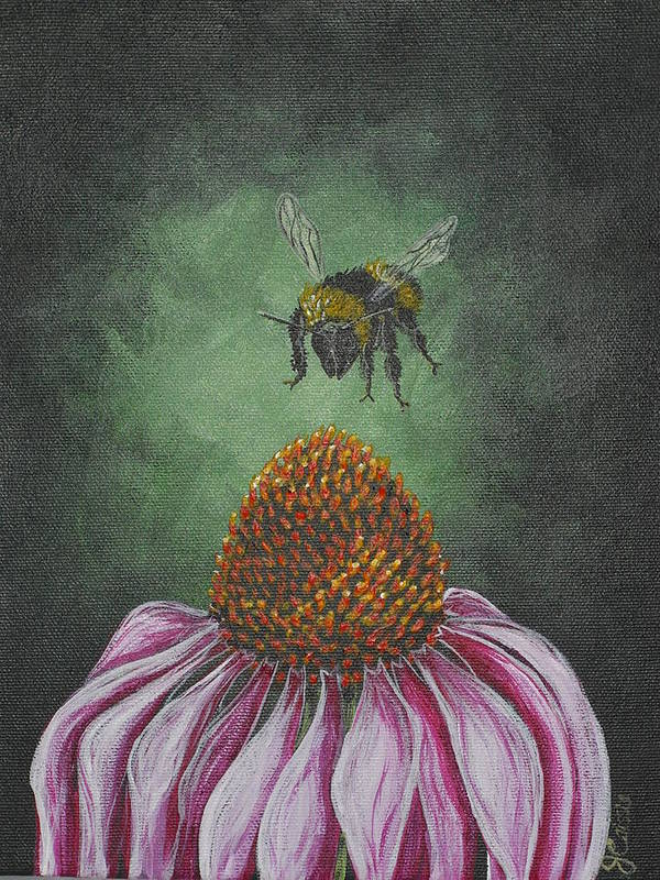 Flower Art Print featuring the painting Sweet Landing by Jana Caissie