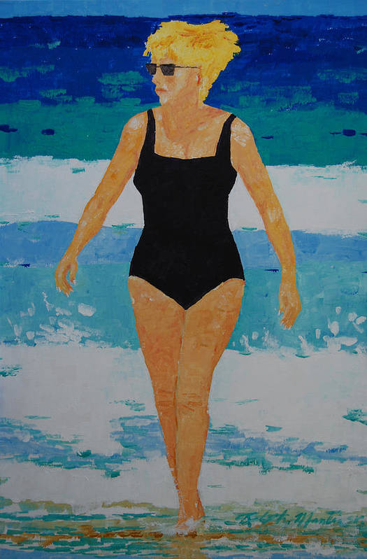 Beach Art Art Print featuring the painting I Got A Woman by Art Mantia