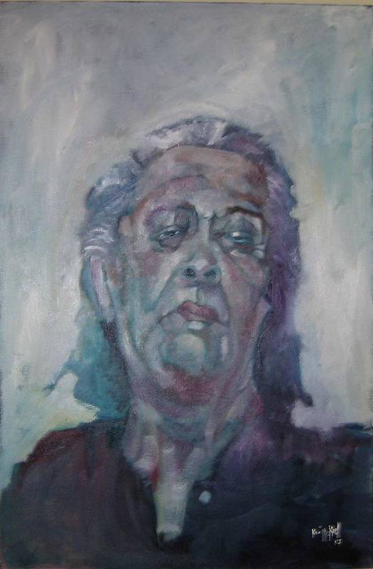 Portrait Figure Art Print featuring the painting Old Mary by Kevin McKrell