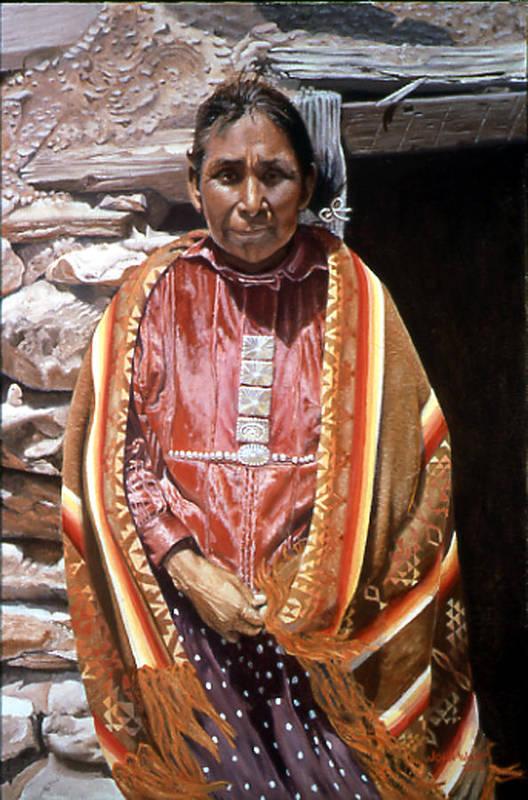 Navajo Indian Southwestern Monument Valley Art Print featuring the painting Genesis by John Watt
