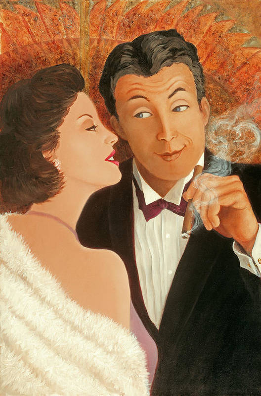 Art Deco Art Print featuring the painting Sweet Talk by Susan Rinehart