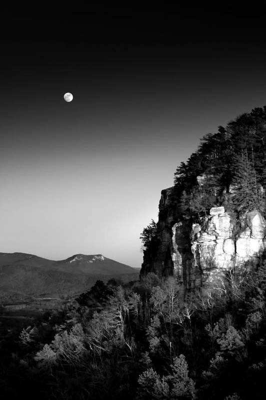 Moonrise-Pilot Mountain by Greg Dollyhite