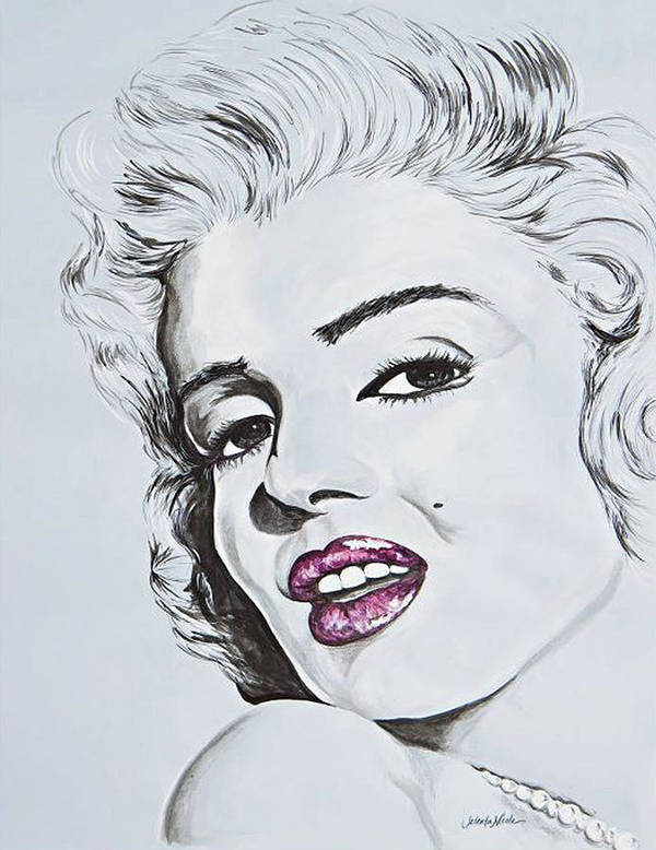 #art Art Print featuring the painting Marilyn Monroe by Jeleata Nicole