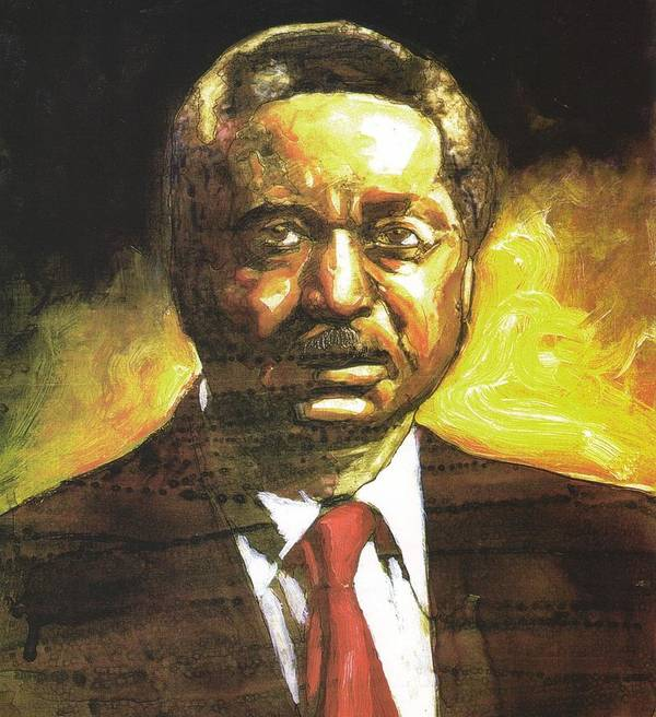 Reverend Leon Sullivan Print featuring the painting Portrait Of Rev. Leon Sullivan by Michael Facey