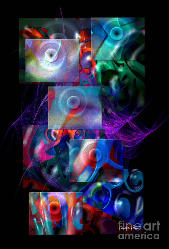 Abstract Color Abstract Realism Art Print featuring the digital art Get It In Gear by Carolyn Staut