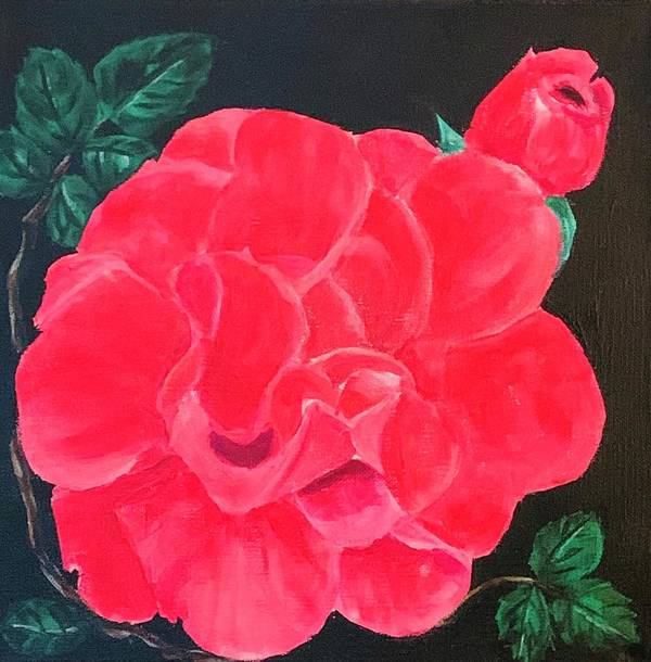 Flowers Art Print featuring the painting A Rose is a Rose by Patricia Halstead