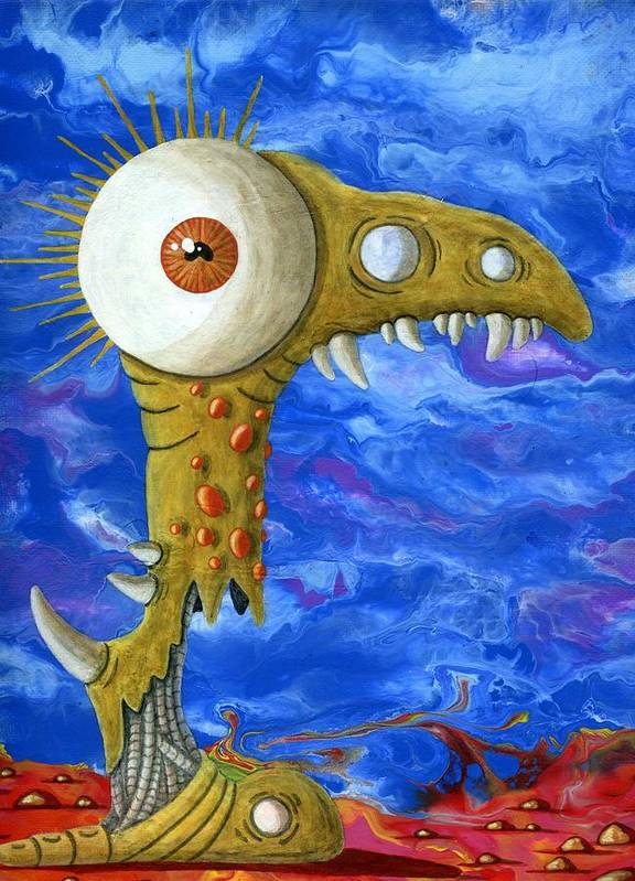Eye Art Print featuring the painting Dante's Periscope by Jason Darge
