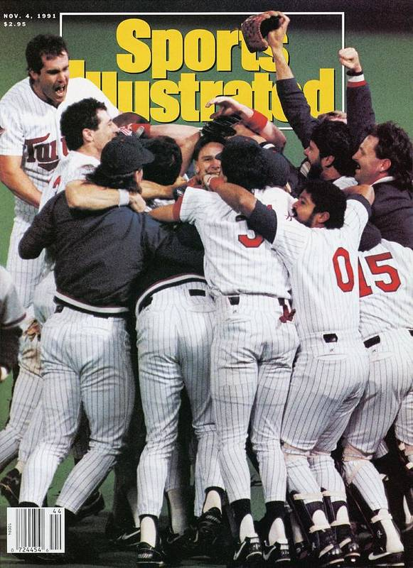 Magazine Cover Art Print featuring the photograph Minnesota Twins, 1991 World Series Sports Illustrated Cover by Sports Illustrated