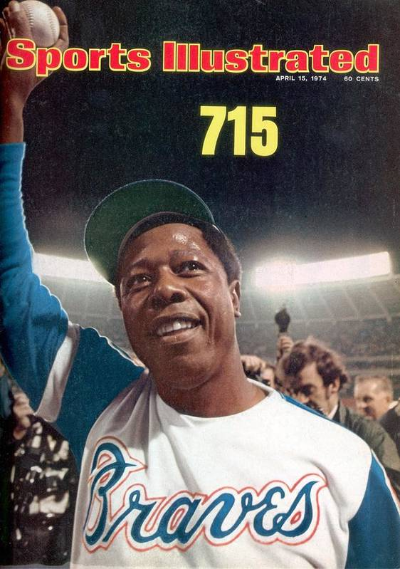 Magazine Cover Art Print featuring the photograph Atlanta Braves Hank Aaron Sports Illustrated Cover by Sports Illustrated