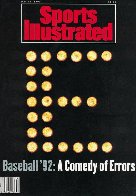 Magazine Cover Art Print featuring the photograph Baseball 92 A Comedy Of Errors Sports Illustrated Cover by Sports Illustrated