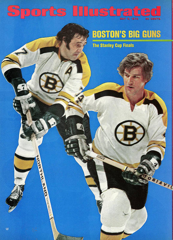 Playoffs Art Print featuring the photograph Boston Bruins Phil Esposito And Bobby Orr, 1972 Nhl Sports Illustrated Cover by Sports Illustrated