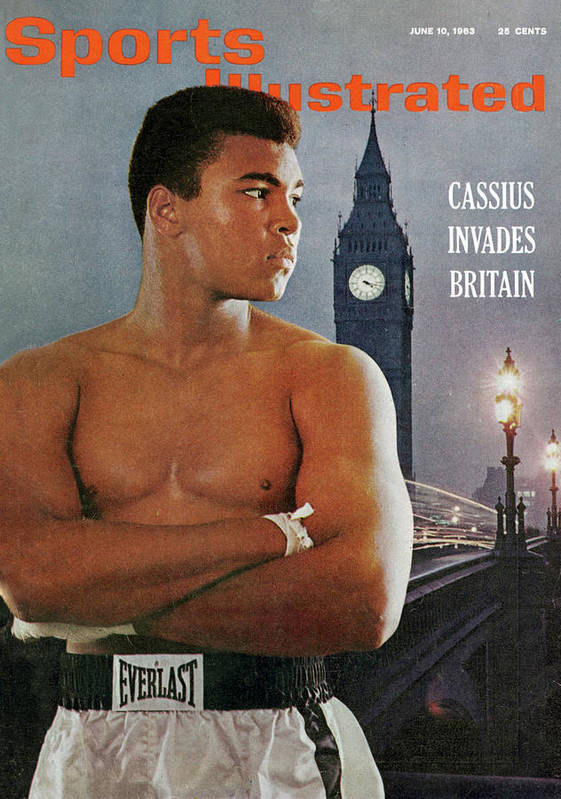 Magazine Cover Art Print featuring the photograph Cassius Invades Britain Sports Illustrated Cover by Sports Illustrated