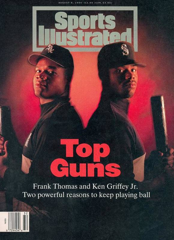 Magazine Cover Art Print featuring the photograph Chicago White Sox Frank Thomas And Seattle Mariners Ken Sports Illustrated Cover by Sports Illustrated