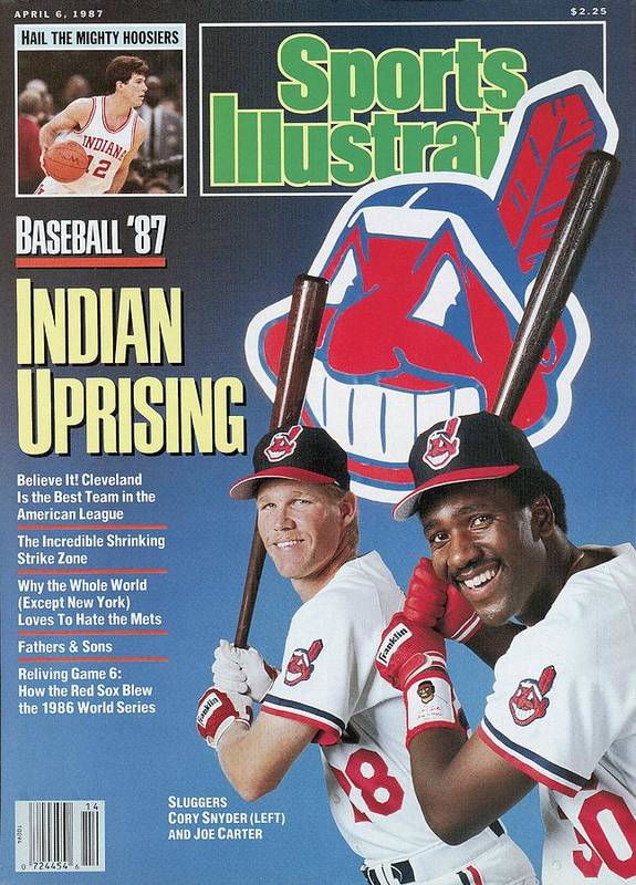 1980-1989 Art Print featuring the photograph Cleveland Indians Cory Snyder And Joe Carter, 1987 Mlb Sports Illustrated Cover by Sports Illustrated