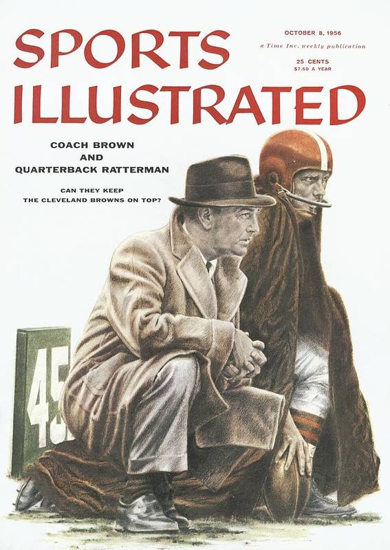 Magazine Cover Art Print featuring the photograph Coach Brown And Quarterback Ratterman Can They Keep Sports Illustrated Cover by Sports Illustrated