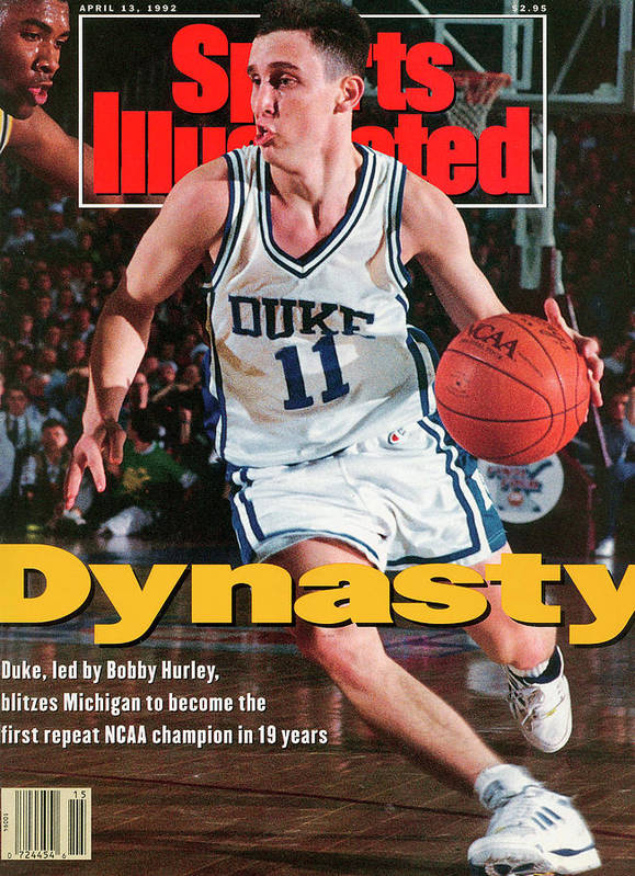 Sports Illustrated Art Print featuring the photograph Duke University Bobby Hurley, 1992 Ncaa National Sports Illustrated Cover by Sports Illustrated