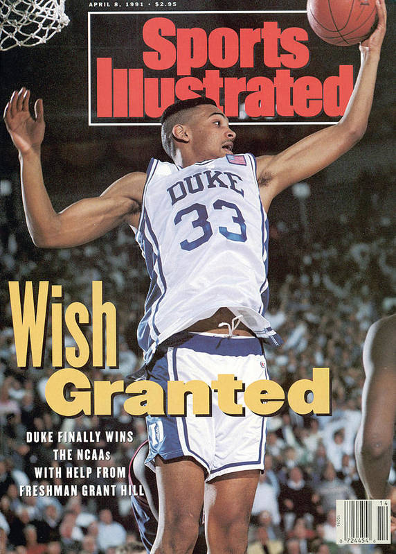 Sports Illustrated Art Print featuring the photograph Duke University Grant Hill, 1991 Ncaa National Championship Sports Illustrated Cover by Sports Illustrated