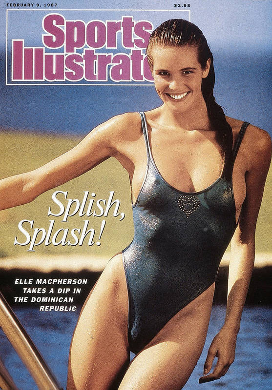 1980-1989 Art Print featuring the photograph Elle Macpherson Swimsuit 1987 Sports Illustrated Cover by Sports Illustrated