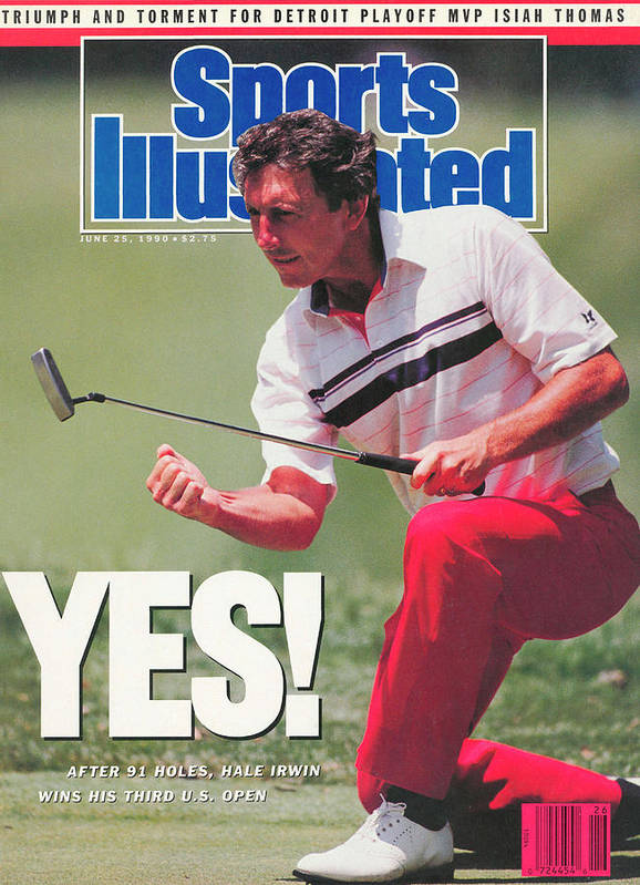 Magazine Cover Art Print featuring the photograph Hale Irwin, 1990 Us Open Sports Illustrated Cover by Sports Illustrated