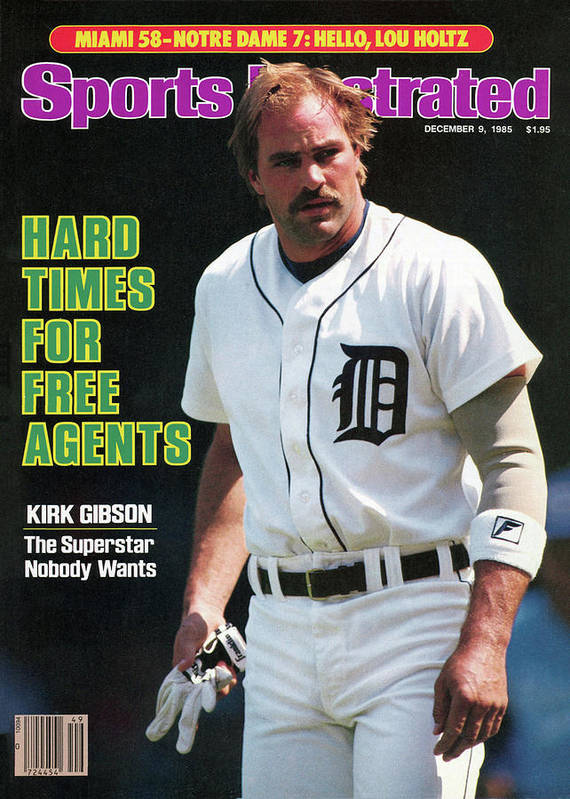 Magazine Cover Art Print featuring the photograph Hard Times For Free Agents Kirk Gibson, The Superstar Sports Illustrated Cover by Sports Illustrated