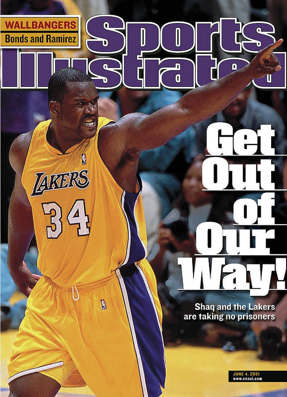 Magazine Cover Art Print featuring the photograph Los Angeles Lakers Shaquille Oneal, 2001 Nba Western Sports Illustrated Cover by Sports Illustrated