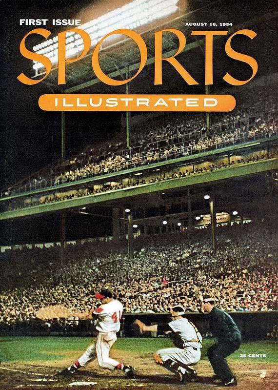 Magazine Cover Art Print featuring the photograph Milwaukee Braves Eddie Mathews... Sports Illustrated Cover by Sports Illustrated