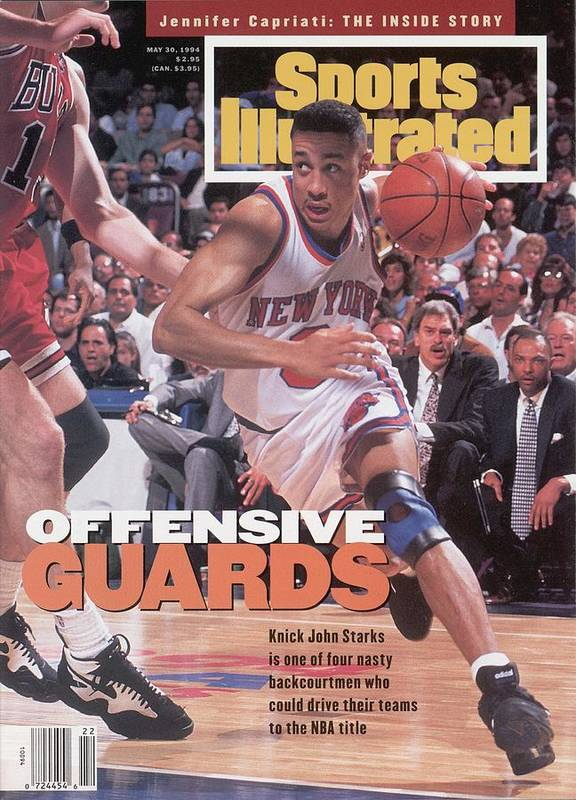 Chicago Bulls Art Print featuring the photograph New York Knicks John Starks, 1994 Nba Eastern Conference Sports Illustrated Cover by Sports Illustrated
