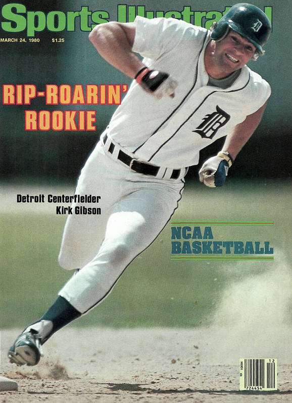 Magazine Cover Art Print featuring the photograph Rip-roarin Rookie Detroit Centerfielder Kirk Gibson Sports Illustrated Cover by Sports Illustrated