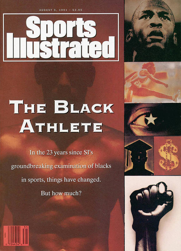The Olympic Games Art Print featuring the photograph The Black Athlete In The 23 Years Since Sis Groundbreaking Sports Illustrated Cover by Sports Illustrated