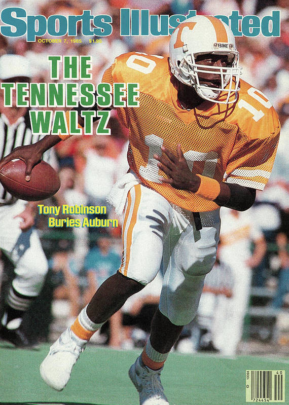 1980-1989 Art Print featuring the photograph The Tennessee Waltz Tony Robinson Buries Auburn Sports Illustrated Cover by Sports Illustrated