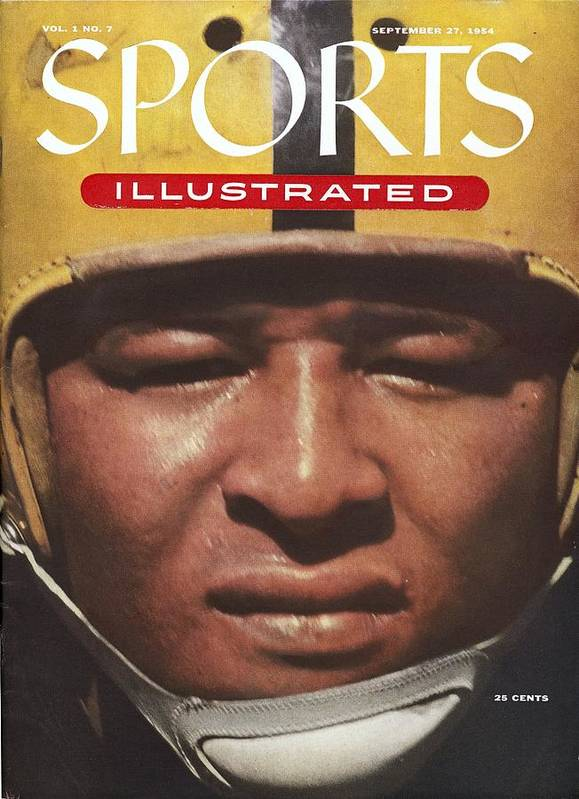 1950-1959 Art Print featuring the photograph University Of Iowa Calvin Jones Sports Illustrated Cover by Sports Illustrated