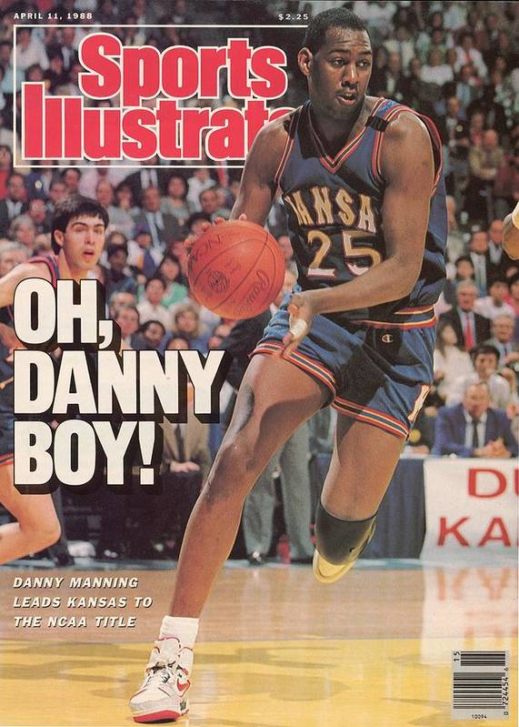 1980-1989 Art Print featuring the photograph University Of Kansas Danny Manning, 1988 Ncaa National Sports Illustrated Cover by Sports Illustrated