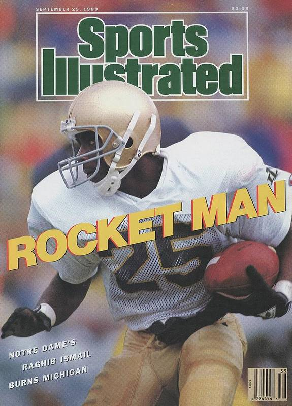 1980-1989 Art Print featuring the photograph University Of Notre Dame Rocket Ismail Sports Illustrated Cover by Sports Illustrated