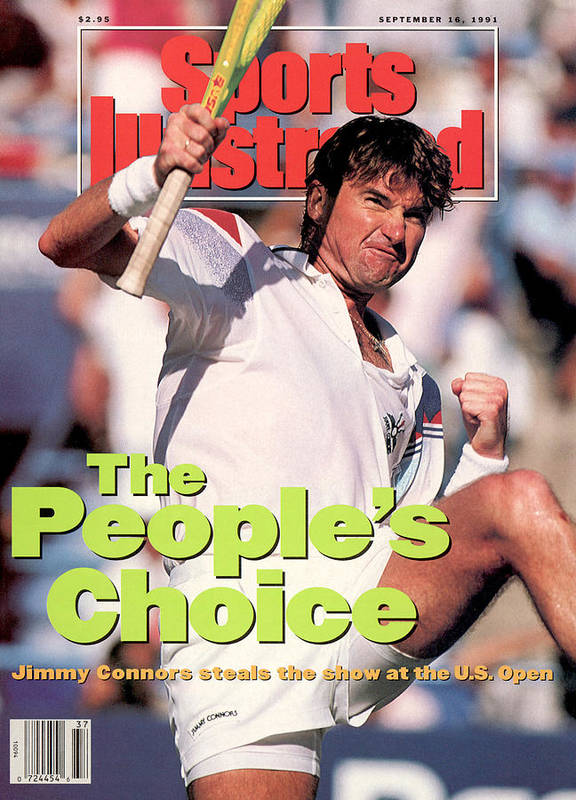 Tennis Art Print featuring the photograph Usa Jimmy Connors, 1991 Us Open Sports Illustrated Cover by Sports Illustrated