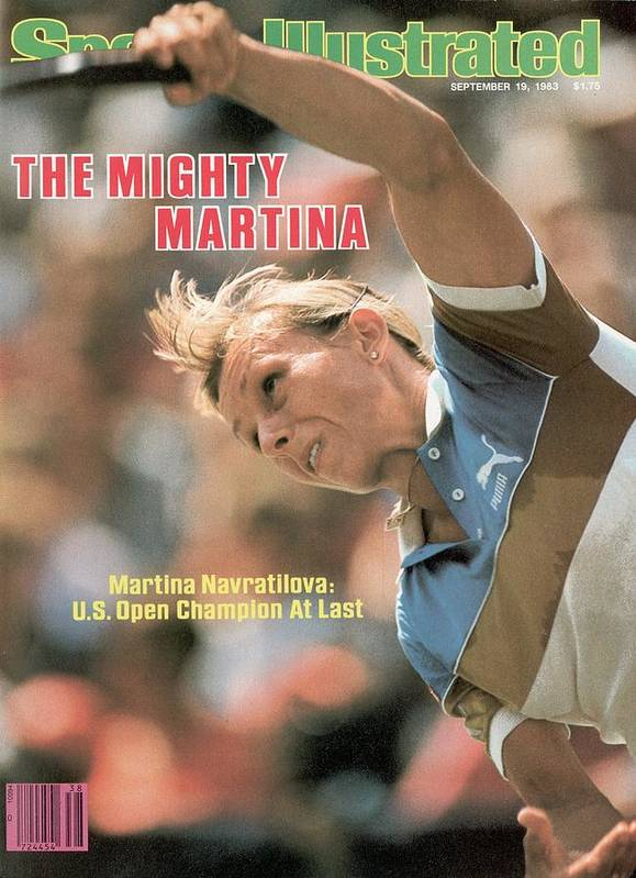 1980-1989 Art Print featuring the photograph Usa Martina Navratilova, 1983 Us Open Sports Illustrated Cover by Sports Illustrated