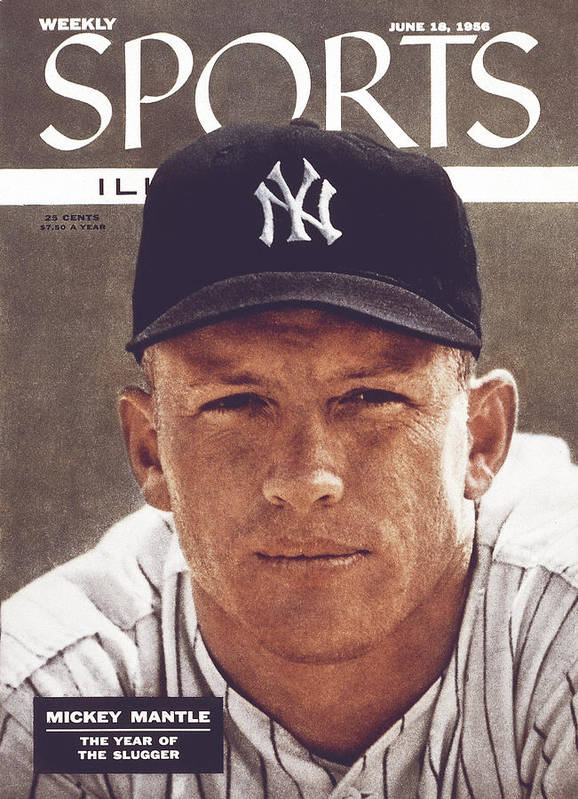 Magazine Cover Art Print featuring the photograph New York Yankees Mickey Mantle Sports Illustrated Cover by Sports Illustrated