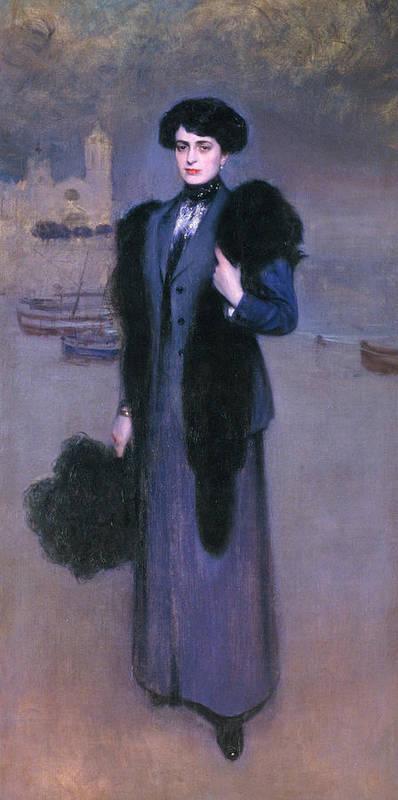 Portrait of Dolors Vidal by Ramon Casas