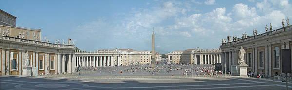 Digital Art Art Print featuring the digital art St. Peter's Square by Harold Shull